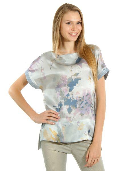 Шелковая блузка - серая Cerruti 18crr81