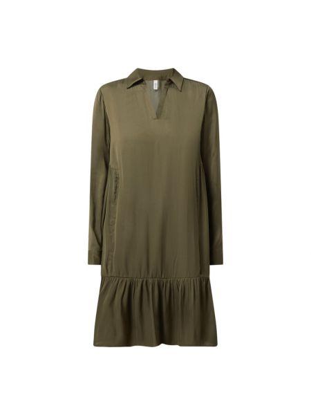 Zielona sukienka rozkloszowana z falbanami Soyaconcept