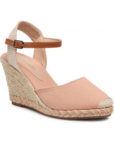 Sandały espadryle - różowe Jenny Fairy