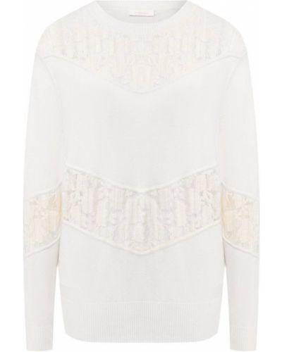 Белый свитер шерстяной See By Chloé