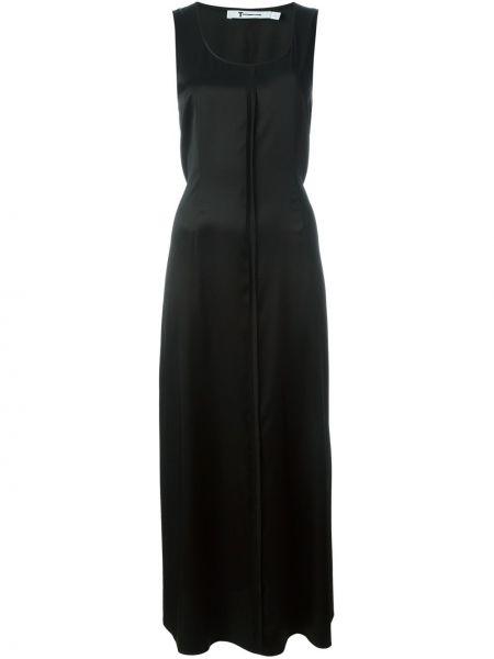 Платье шелковое черное T By Alexander Wang