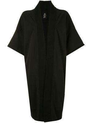 Ватная черная длинная куртка с короткими рукавами Thom Krom