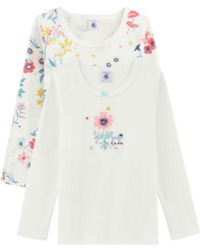 Biała t-shirt Petit Bateau