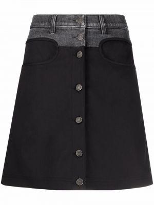 Spódnica bawełniana - czarna Diesel