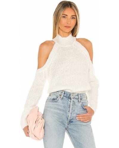 Biały sweter z akrylu Majorelle