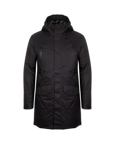Черная утепленная длинная куртка на молнии Icepeak