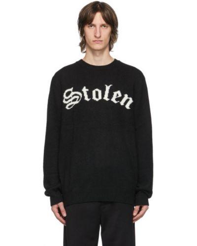 Czarny sweter wełniany z długimi rękawami Stolen Girlfriends Club