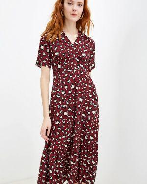 Платье бордовый прямое Yumi