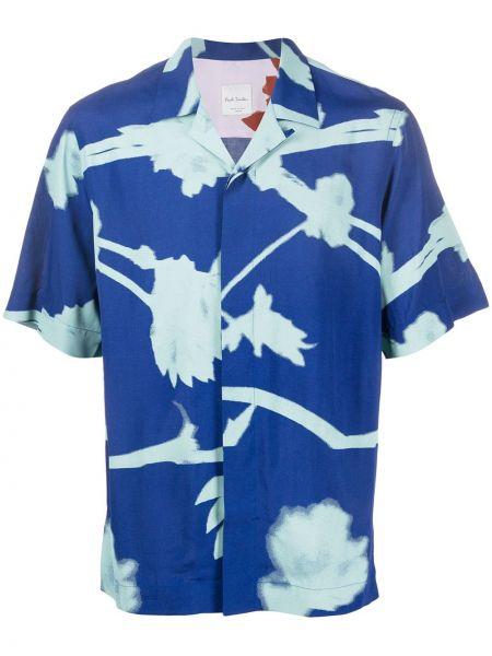 Koszula krótkie z krótkim rękawem prosto z nadrukiem Paul Smith