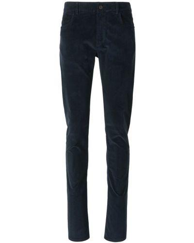 Niebieskie spodnie sztruksowe Canali
