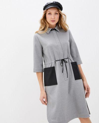 Платье - серое Vassa&co