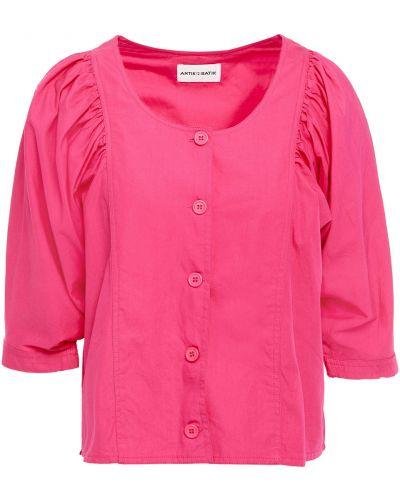 Ватная хлопковая розовая блузка Antik Batik