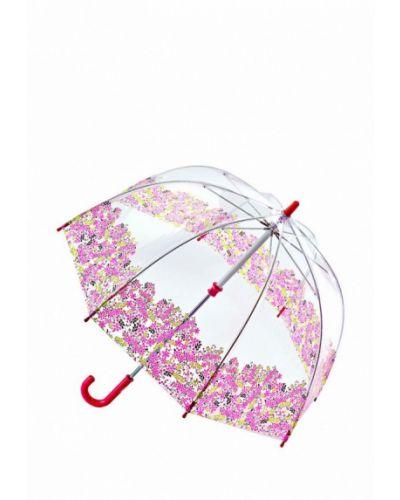 Розовый зонт-трость Fulton