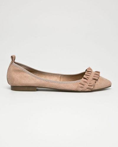 Бежевые балетки текстильные Corina