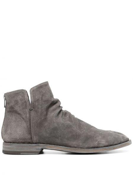 Ankle boots skorzane płaska podeszwa Officine Creative