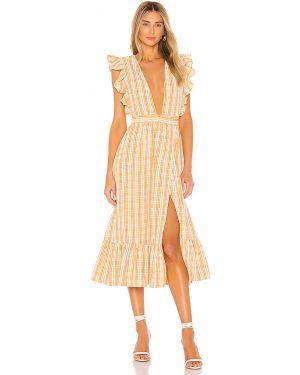 Sukienka dla wysokich kobiet z falbankami Majorelle