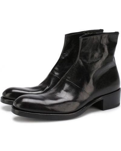 Кожаные ботинки высокие на молнии Premiata