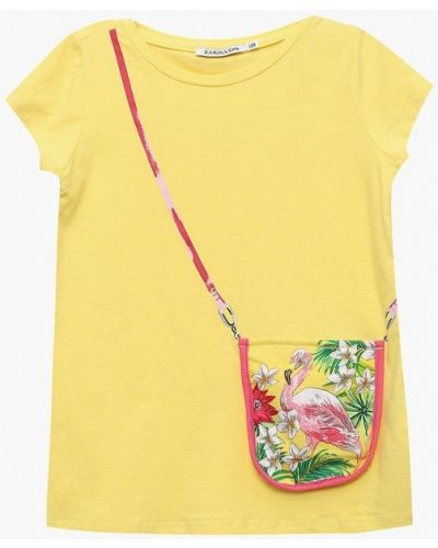 Желтая футболка Zarina
