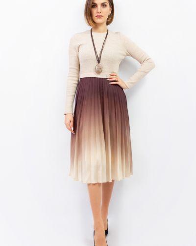 Платье макси длинное - бежевое Espiga