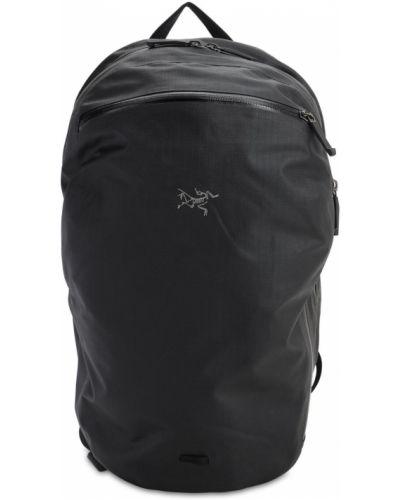 Czarny plecak na laptopa z nylonu Arcteryx