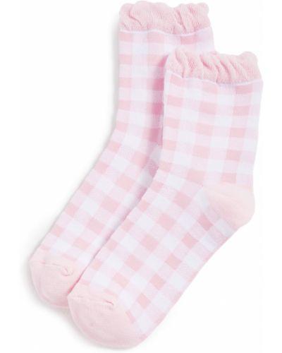 Розовые хлопковые носки с манжетами Plush