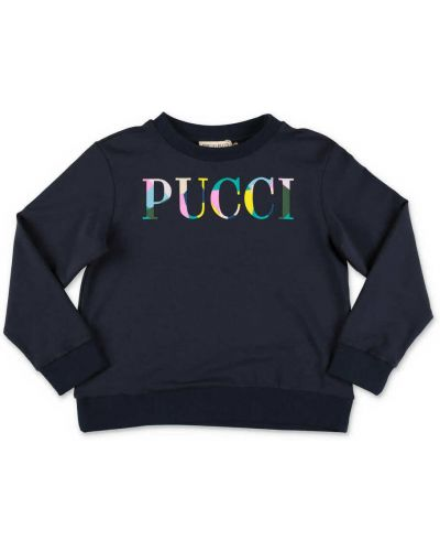 Niebieska bluza dresowa Emilio Pucci