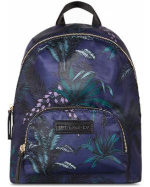 Niebieski plecak skórzany z printem Tiba + Marl