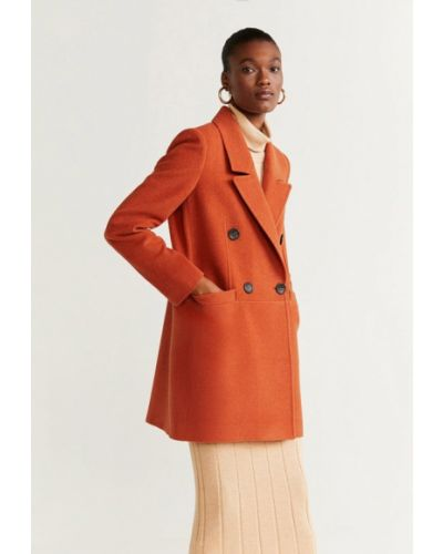 Пальто пальто двубортное Mango