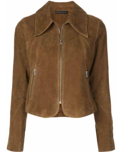 Прямая коричневая длинная куртка Citizens Of Humanity