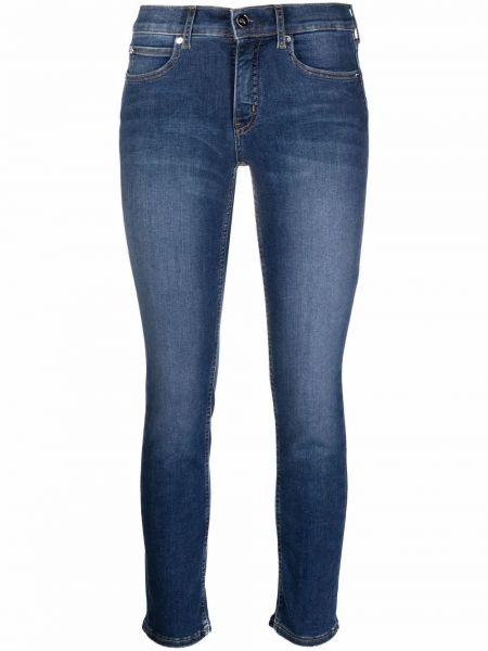 Зауженные хлопковые джинсы на молнии Calvin Klein