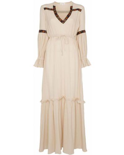 Платье со складками с V-образным вырезом Celia Dragouni