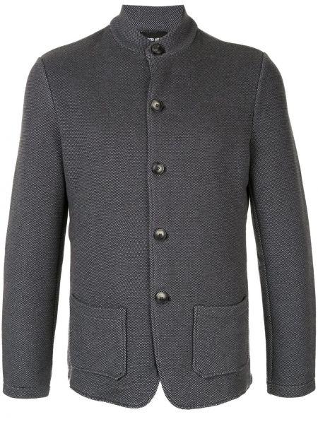 Пиджак с воротником-стойка на пуговицах свободного кроя с карманами Giorgio Armani