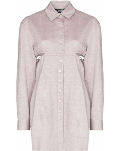 Льняное розовое платье Jacquemus