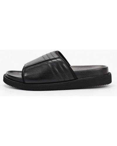 Черные кожаные сандалии Vitacci
