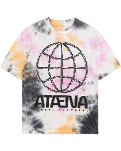 Różowa t-shirt bawełniana z haftem Mcq Alexander Mcqueen