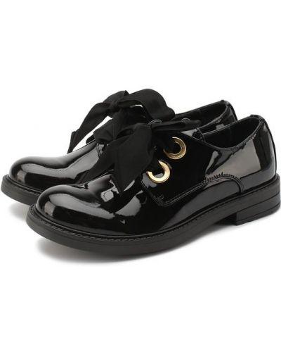Кожаные ботинки черные кожаные Lanvin
