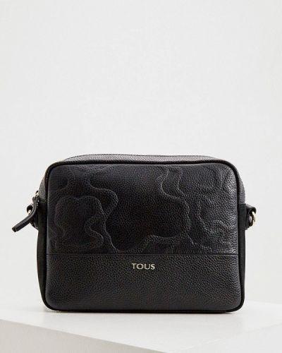 Кожаная черная сумка через плечо Tous