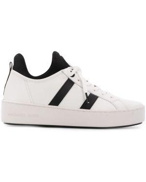 Кожаные кроссовки белый с нашивками Michael Michael Kors
