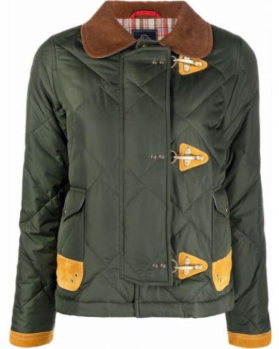 Кожаная куртка длинная - желтая Fay