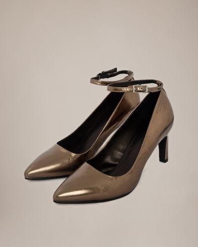 Кожаные туфли на каблуке на высоком каблуке Vagabond