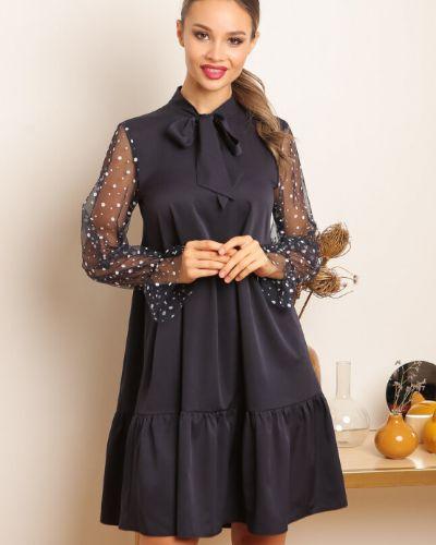 Свободное с рукавами вечернее платье новогоднее Ellcora
