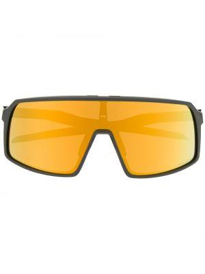 Солнцезащитные очки серые черные Oakley