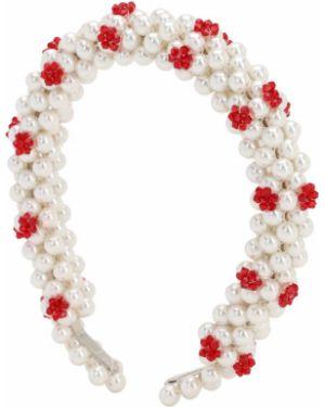Opaska na głowę z perłami z koralikami Shrimps