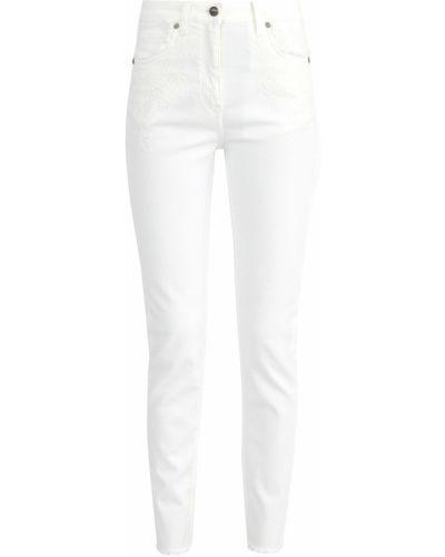 Джинсы-скинни с вышивкой белые Etro