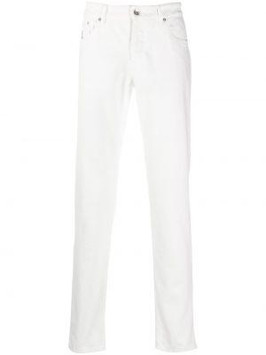 Bawełna prosto jeansy o prostym kroju z paskiem z łatami Brunello Cucinelli