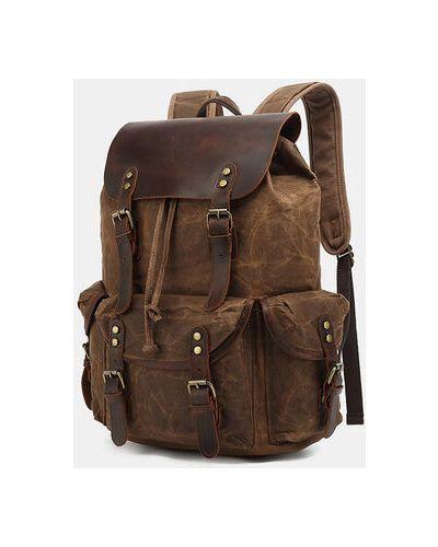 Черный парусиновый рюкзак Newchic