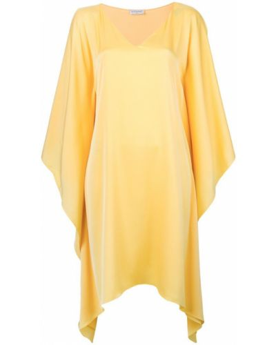 Желтое асимметричное платье Vionnet