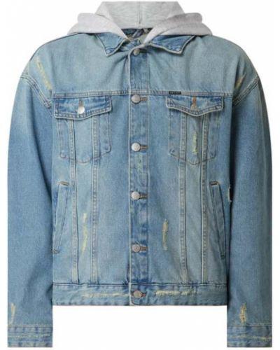 Niebieski bawełna kurtka jeansowa z kapturem Review