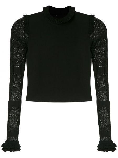 Блузка с длинным рукавом черная Andrea Bogosian