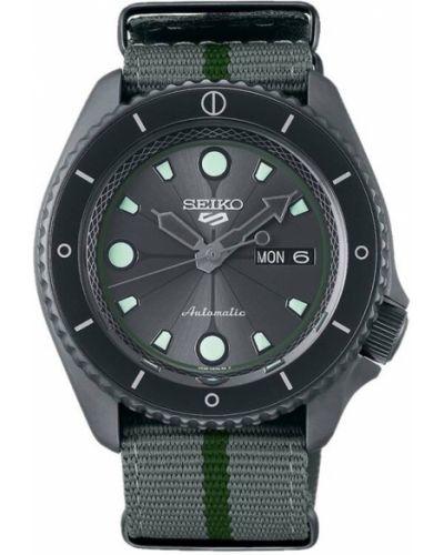 Szary zegarek sportowy Seiko